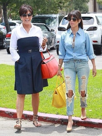 jeans kourtney kardashian ripped jeans keeping up with the kardashians shorts