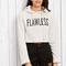 White letter print hooded sweatshirt -shein(sheinside)