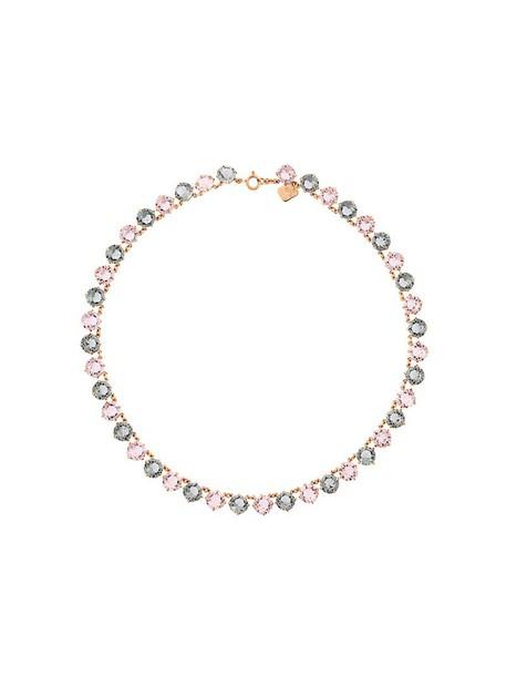 women necklace purple pink jewels