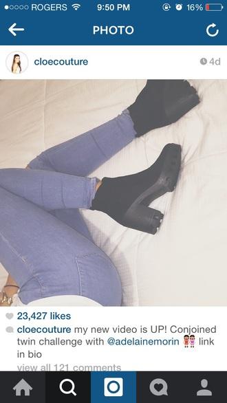 shoes cloe couture black boots vintage cloe boots black boots vintage boots