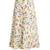 Abstract bird-print cloqué midi skirt