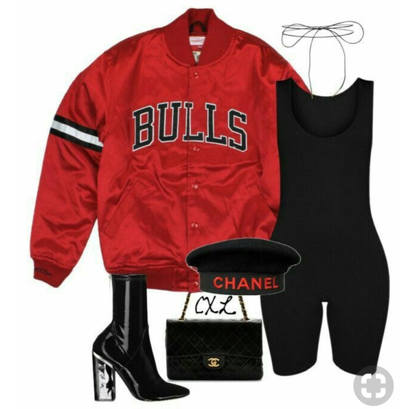 jacket red chicargo bulls fleece jacket