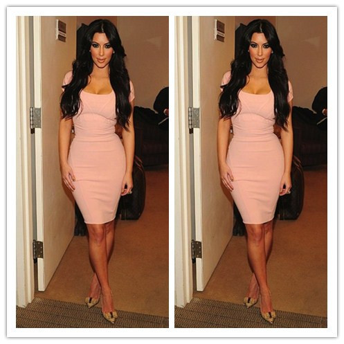 Aliexpress.com : buy kim kardashian dress 2014 new cap sleeves scoop sheath knee length short celebrity prom dresses for cocktail party from reliable dress details suppliers on suzhou lovestorydress co. , ltd