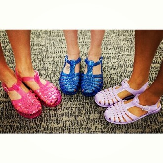 shoes jellyshoes jellies jelly sandals flat summer mules shoes summer shoes