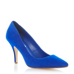Dune Blue pointed toe court shoe- at Debenhams Mobile