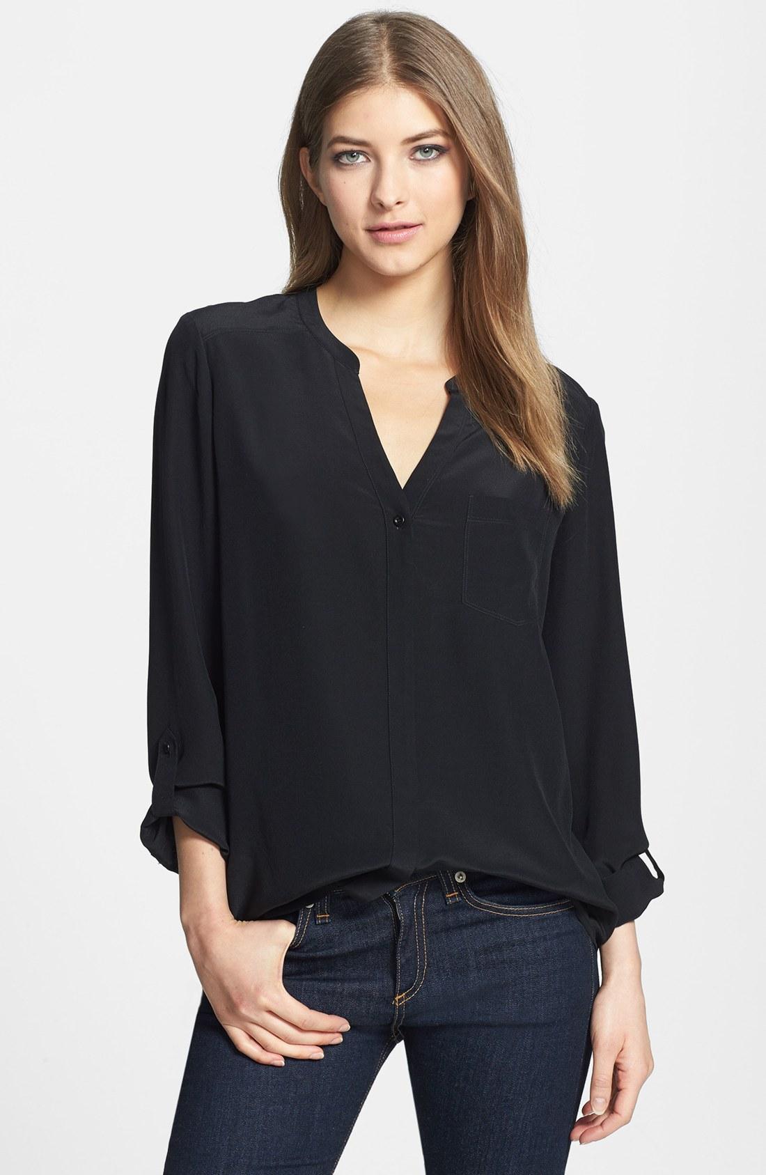 Черная Блузка Фото