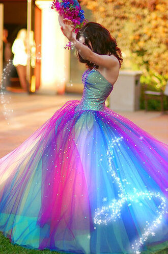 dress multicolor long dress prom