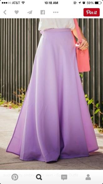 skirt purple skirt lavender skirt maxi skirt lavender mxi skirt purple maxi skirt ombre lavender