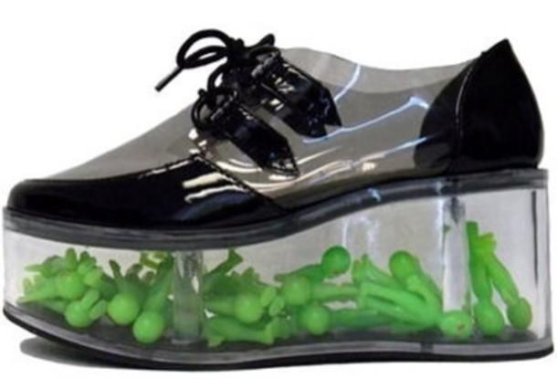 Shoes Alien Clear Transparent Platform Shoes Wheretoget