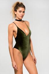 swimwear,fully reversible,dbrie swim,green,one piece,bikiniluxe