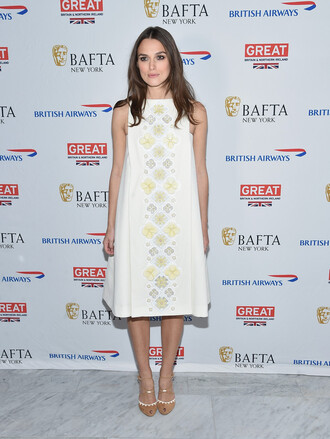 dress midi dress keira knightley sandals