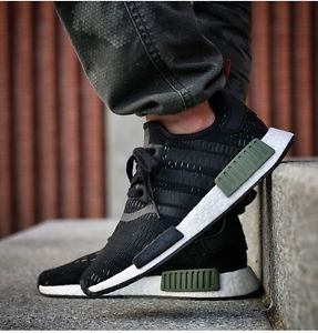19115317b43a7 adidas nmd r1 base green core white  black bb1357 all sizes bnib