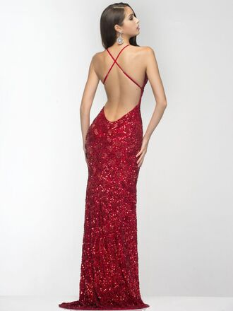 sequin dress backless prom dress prom dress red prom dress homecoming dress long prom dress sexy prom dress
