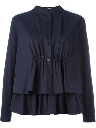 shirt peplum shirt layered top