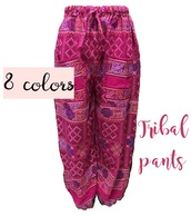 pants,pants with tie,cute pants,stretch pants,elastic waist pants,elastic pants,hill tribe pants,ethnic pants