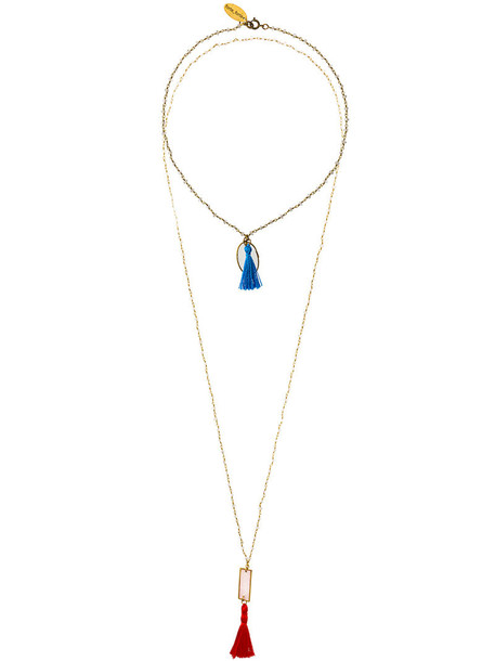 Forte Forte metal tassel women necklace grey metallic jewels