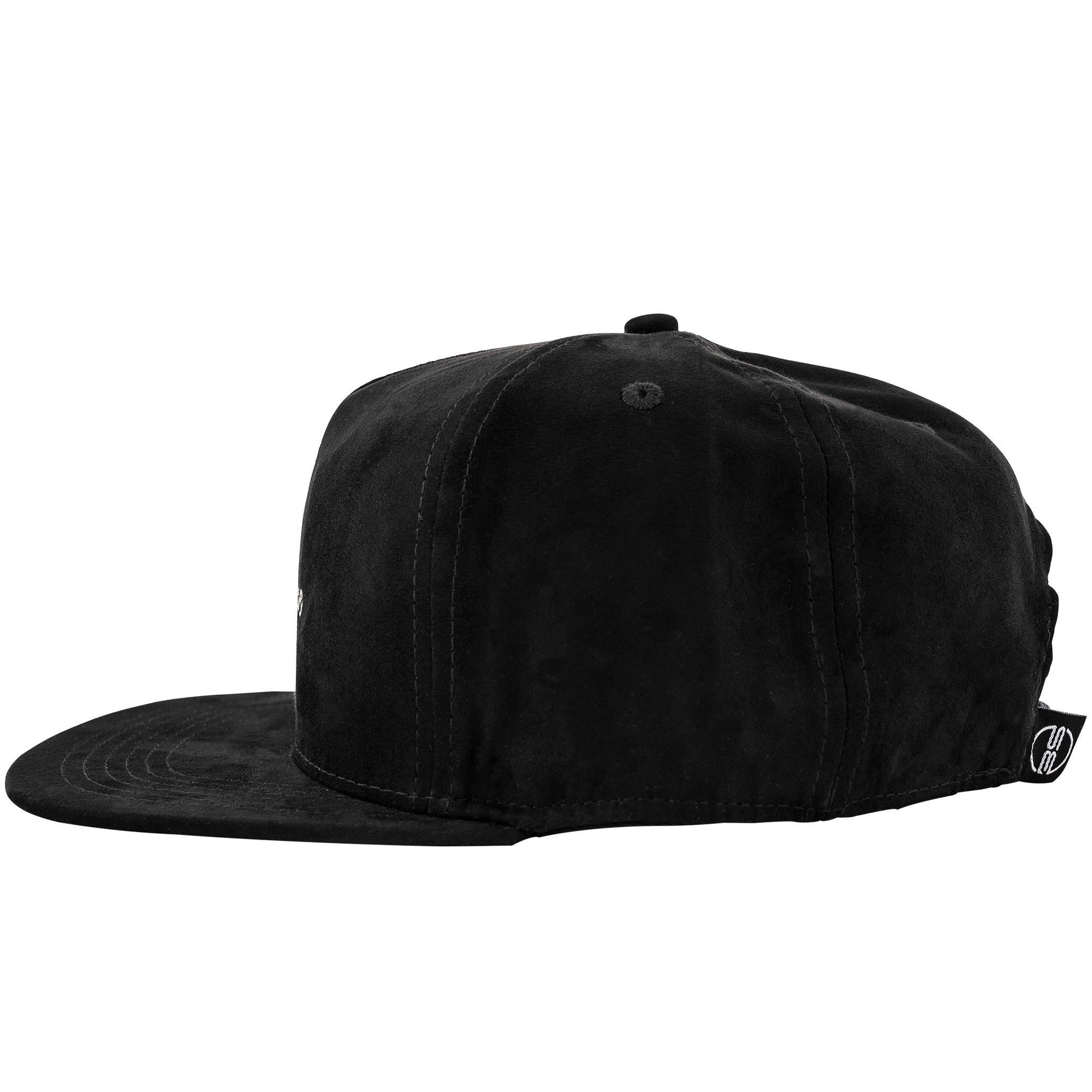 Aegis Snapback Cap - Black-Suede