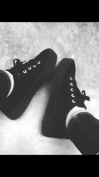 shoes black shoes grunge dark dark shoes black platforms platform shoes