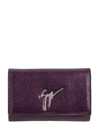 leather clutch clutch leather purple bag