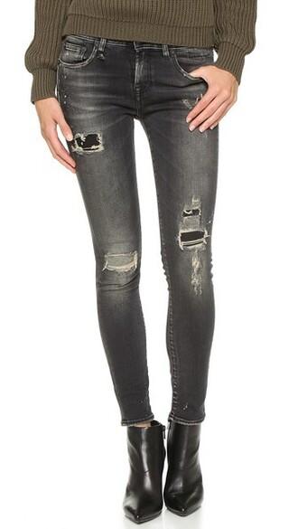 jeans skinny jeans black petrol