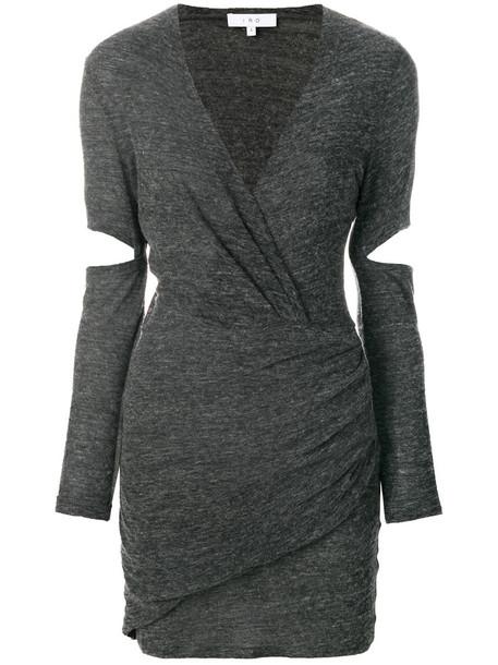 Iro dress wrap dress women slit wool grey