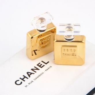Chanel: Vintage Chanel Perfume Bottle Huge Earrings    | MALLERIES