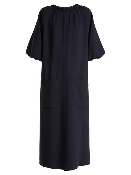 dress pocket dress navy