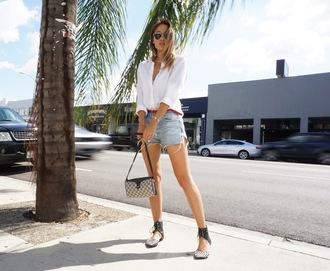 croptopia blogger shirt shorts shoes bag sunglasses belt