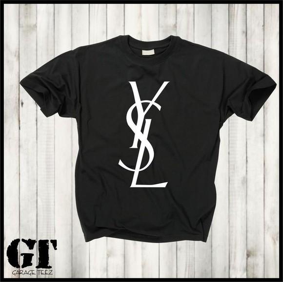 trendy saint laurent yves saint laurent t-shirt black t-shirt