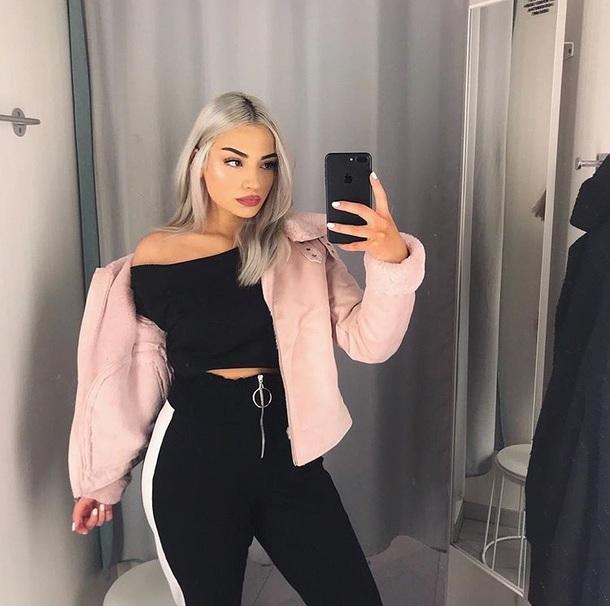 jacket pink jacket cute