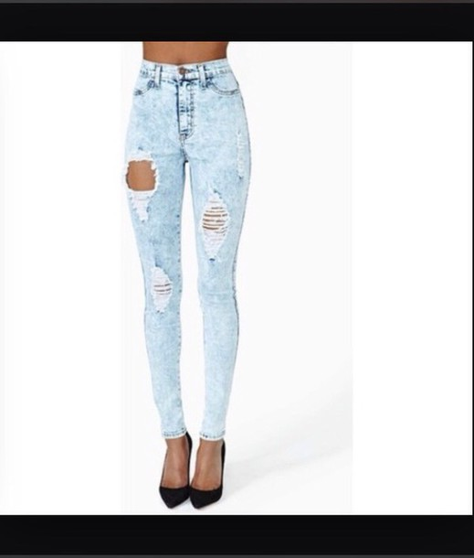 jeans light blue skinny wripped jeans light blue jeans