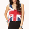 British flag crop top | forever21 - 2000076480