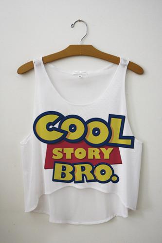 Cool story bro crop top