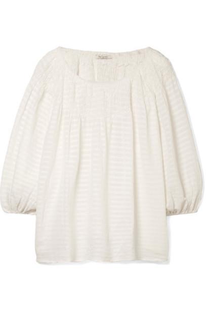 MES DEMOISELLES top white cotton