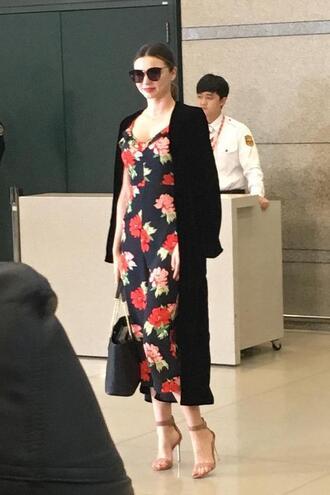 jumpsuit pants top miranda kerr model floral