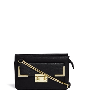 ASOS | ASOS Ostrich Flap Cross Body Bag at ASOS