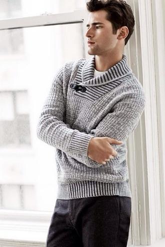 sweater cardigan knit mens