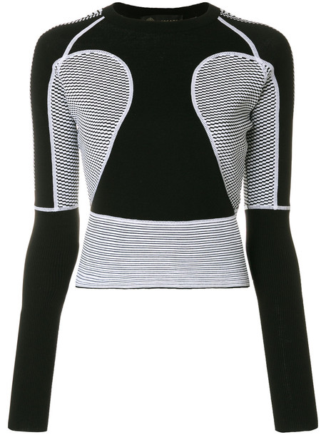 VERSACE jumper women black wool sweater