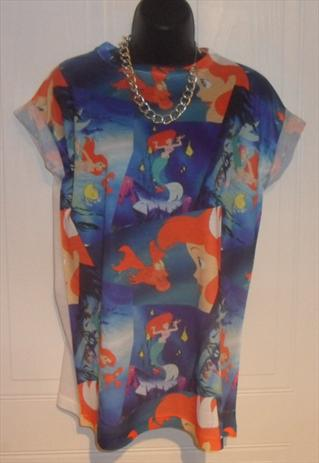 all over print LITTLE MERMAID ARIEL t/shirt slouchy grunge   mysticclothing   ASOS Marketplace