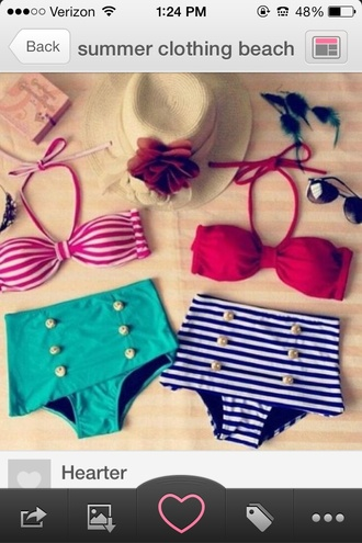 swimwear high waisted bikini red bikini top