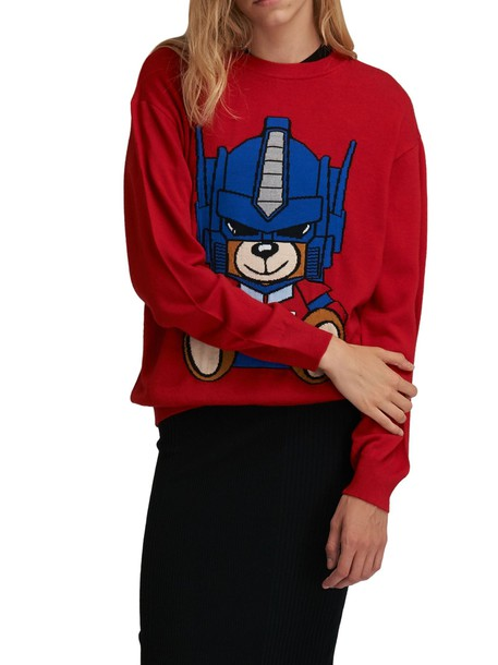 Moschino jumper wool red sweater