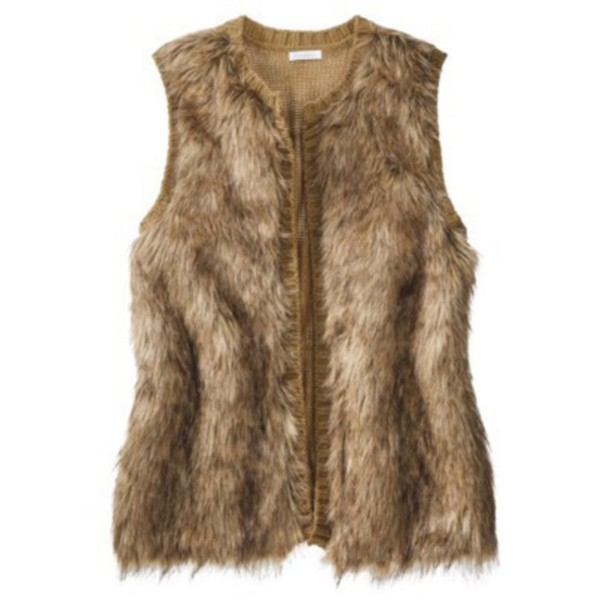 coat faux fur vest brown fur vest
