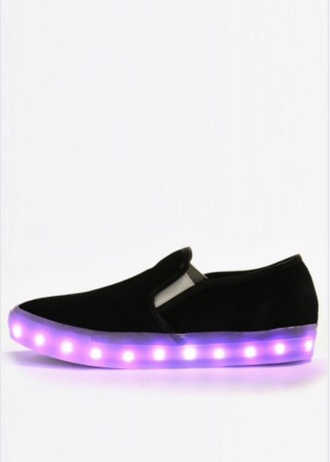 shoes glow in the dark black party sneakers grunge hip