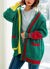 cardigan,girly,girl,girly wishlist,knitwear,knit,knitted cardigan,green,yellow,red