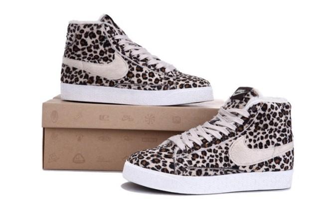 Nice Men/Women Nike Blazer Leopard Print Pink Shoes Discount Sale