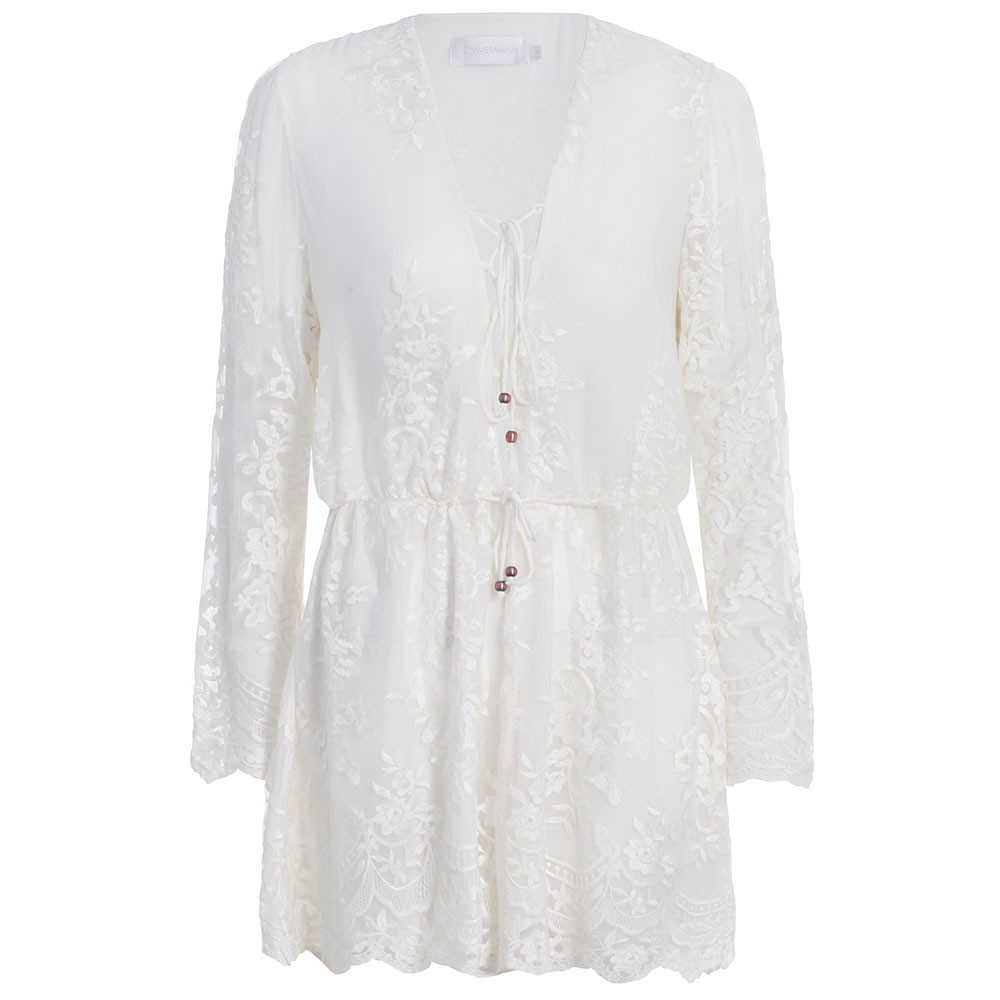 Essence silk veil playsuit