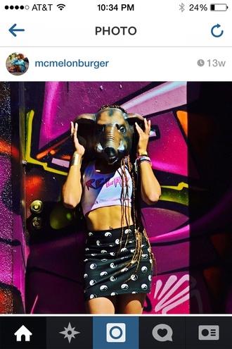 skirt yingyang bag fashion tumblr instagram
