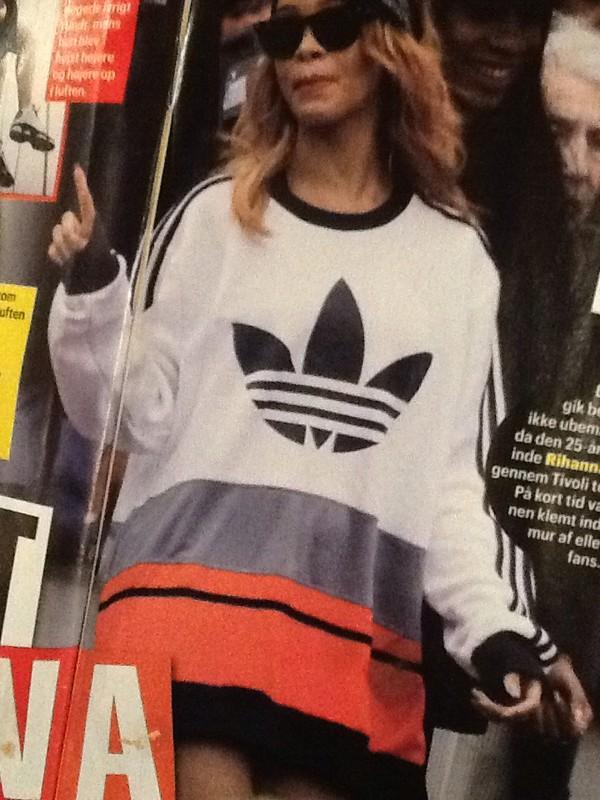 blouse rihanna adidas white