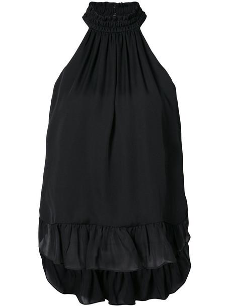 Cinq a Sept blouse women black silk top
