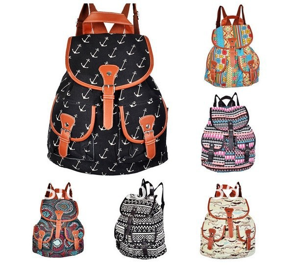 KPOP Women's Bookbag TRAVEL NEW Rucksack School Bag Satchel Canvas ...